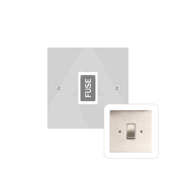 Stylist Grid Range Unswitched Spur (13 Amp) in Satin Nickel -  - White Trim - L05.3650.W