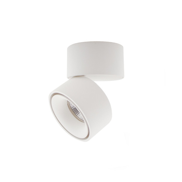 Modern Single 1 x 10W LED Dimmable  Adjustable LED Downlight in Matt White Finish  3000K Warm White