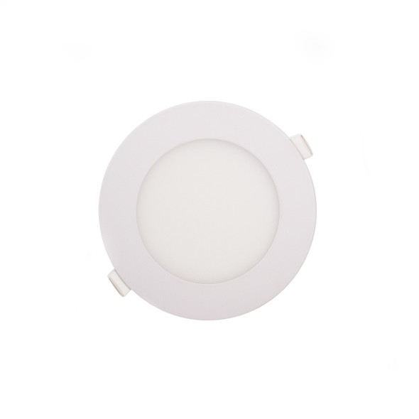Recessed Round LED Panel 6000K 12W in White Finish