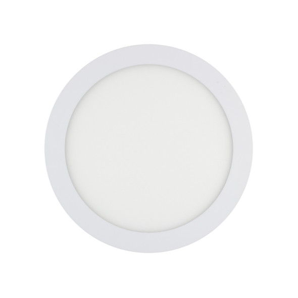 Recessed Round LED Panel 6000K 20W in White Finish