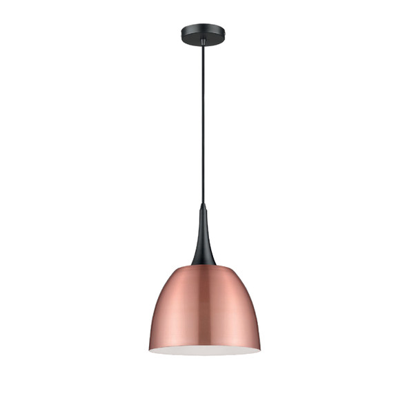 Modern Dome Pendant Light in Copper Metal Finish 60W