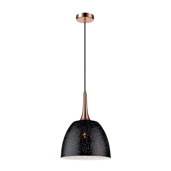 Starlight Effect Metal Pendant Light in Black Finish