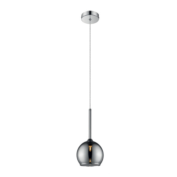 Glass Plum Pendant Light in Chrome Finish