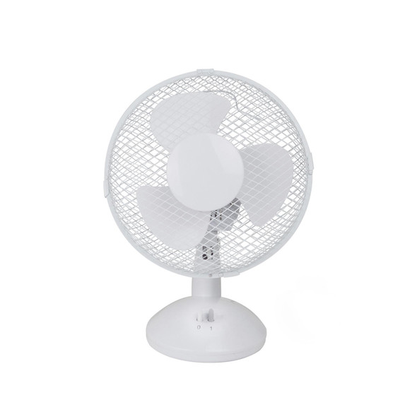 "9"" 2-Speed Oscillating Adjustable Pedestal Desk Fan Home Office Work"