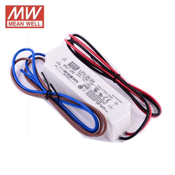Mean Well LPV-20-24 LED Power Supply 20W IP67 LED Driver Power Supply 24V