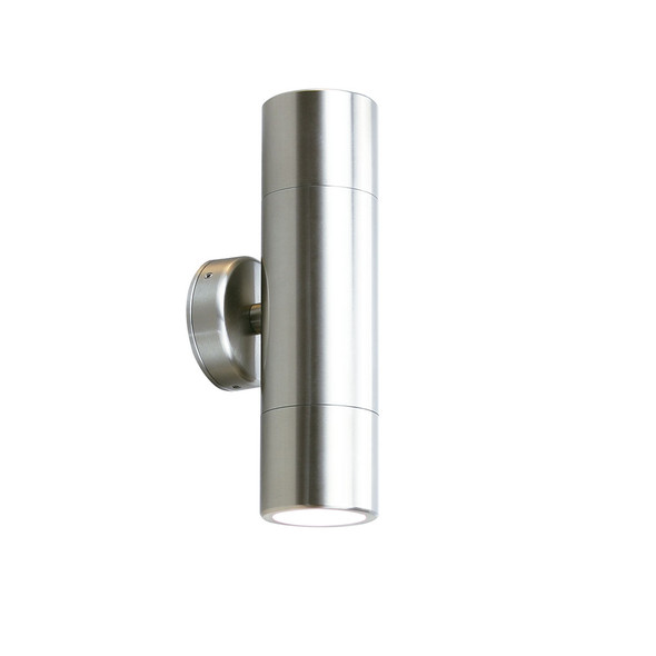 Outdoor Up & Down Wall Light in Stainless Steel IP65
