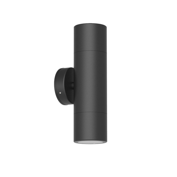 Outdoor Up & Down Wall Light in Matt Black IP65