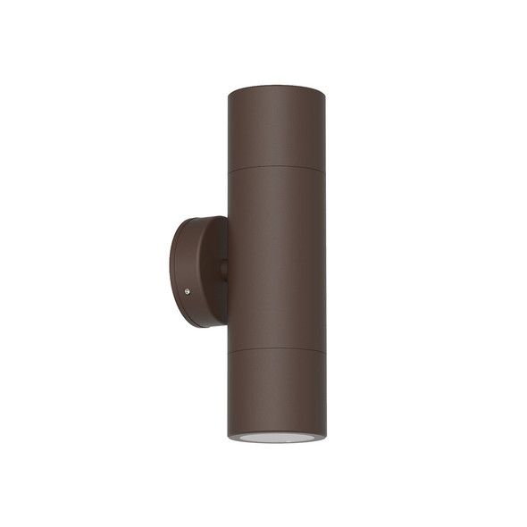 Outdoor Up & Down Wall Light in Matt Rust IP65