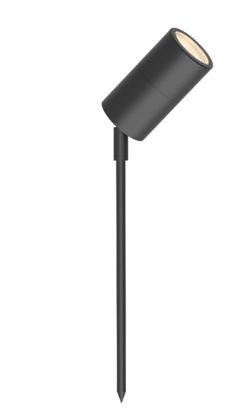 Outdoor Ground Adjustable Spotlight in Matt Black IP65