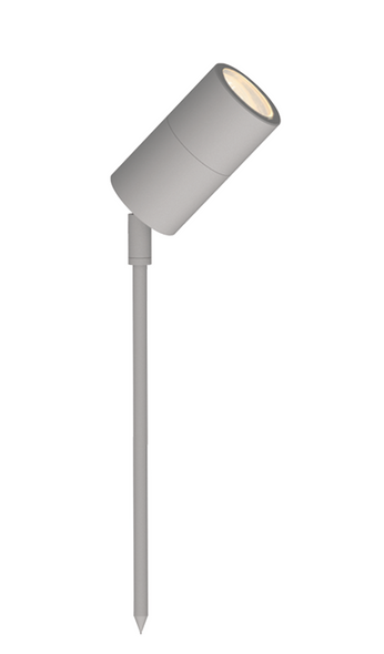Outdoor Ground Adjustable Spotlight in Matt Silver IP65