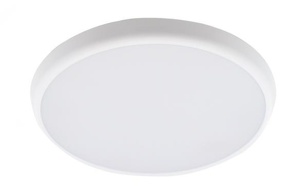 Slim Bulkhead IP40 25W LED Wall & Ceiling Light with Emergency CCT Emergency +Adjustable Sensor