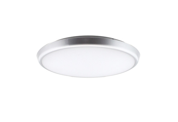 Dimmable LED Slim Bulkhead IP40 Wall & Ceiling Light in Silver 4000k