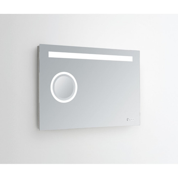Geneva Illuminated Mirror IP44 3x Magnifying /IR Motion Sensor/Digital Clock CCT