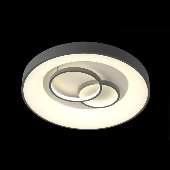 Modern Flush LED Light in Grey Finish CTT Changeable Temperature
