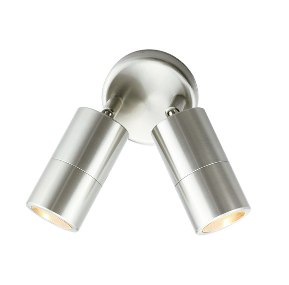 Adjustable Twin Outdoor Wall Light in 304 Stainless Steel  GU10 IP65