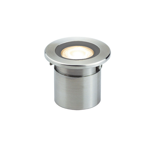 LED Deck Light with Canister in Stainless Steel 316L 4000K Dia: 42mm