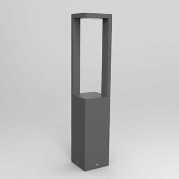Ultra Modern 12w LED Outdoor Bollard Light in Textured Dark Grey IP54 3000K