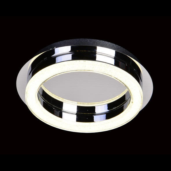 Barauham Modern Round LED Flush Light in Chrome Finish