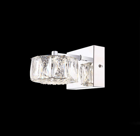 Nellie LED Wall Single Crystal Light in Chrome