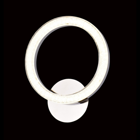 Annabelle Modern Ring LED Wall Light in Chrome