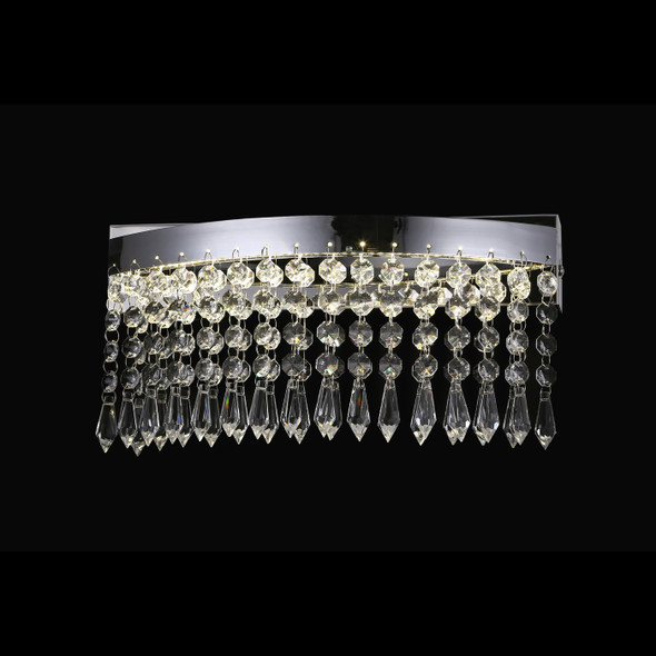 Akila Curved Crystal LED Wall Light in Chrome 8W