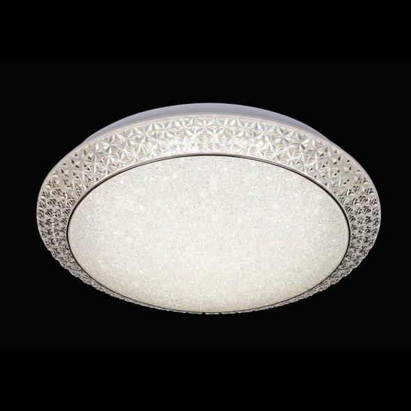 Ines Large Round Acrylic Decorative Crystal LED Flush Ceiling Light
