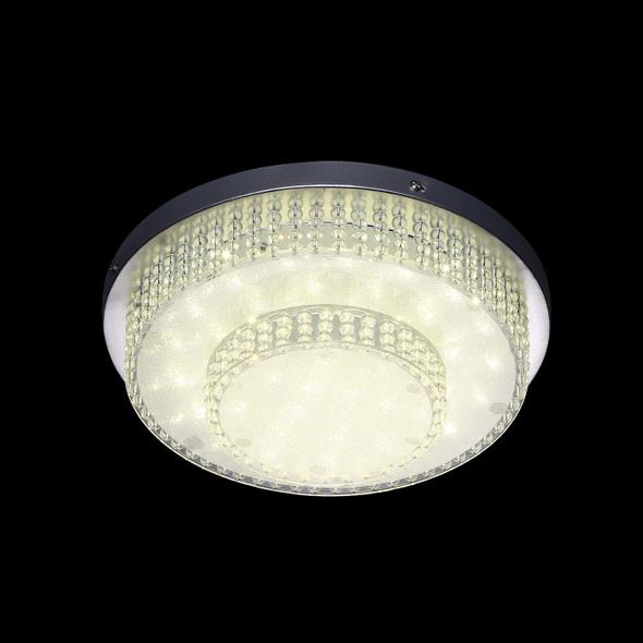 Julieta Round Acrylic Flush Light 4000K in Chrome