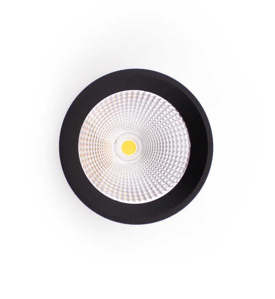 Round Surface Mounted 10W Dimmable LED Downlight 3000K IP44 in Matt Black
