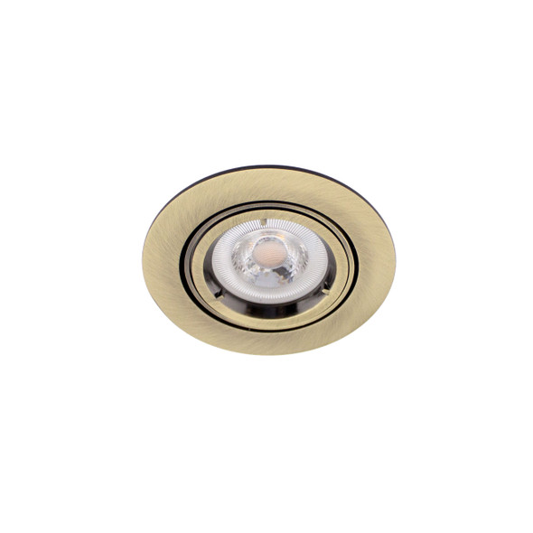 Adjustable Downlight in Antique Brass IP20