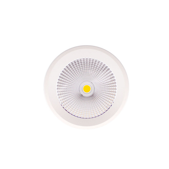 Round Surface Mounted 10W Dimmable LED Downlight 3000K IP44 in Matt White