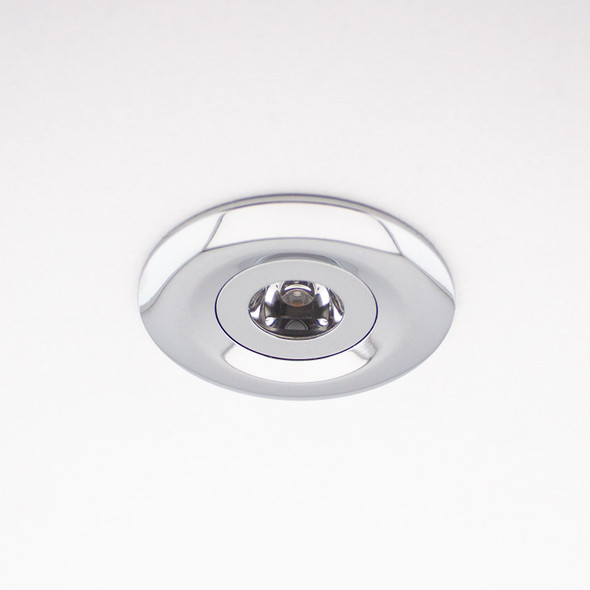 Mini 3w Adjustable LED Downlight in Polished Chrome 4000K IP44 Dimmable
