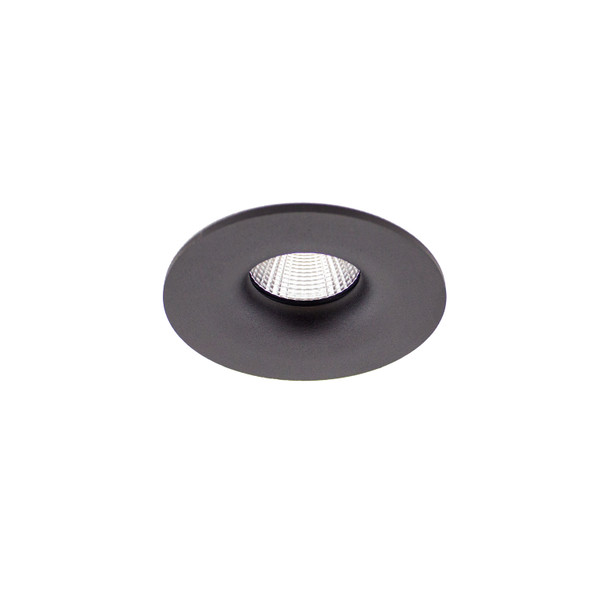 Fixed 10W Dimmable LED Downlight 3000K IP65 & Fire Rated in Matt Black  Low Profile