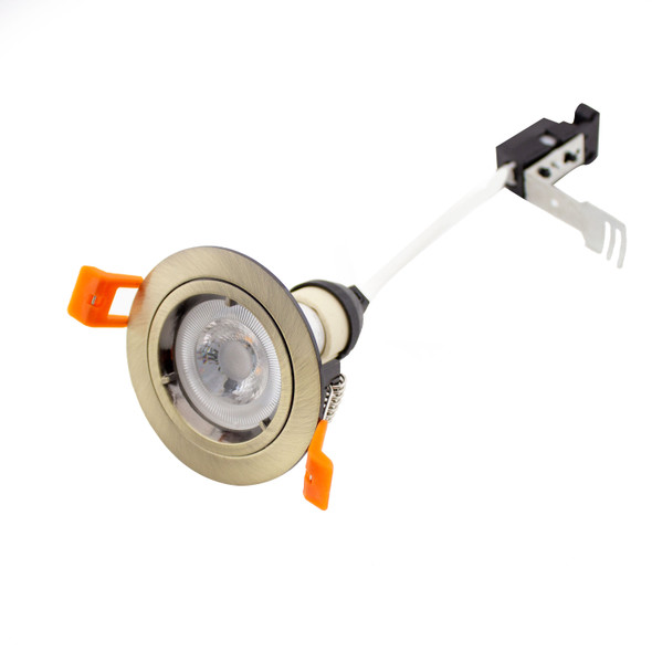 Fixed GU10 Downlight In Antique Brass (Lamp Not Included)