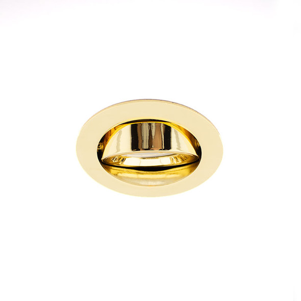 GU10 Adjustable Downlight in Polished Brass (Lamp Not Included)