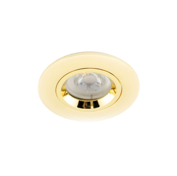 Fixed GU10 Downlight in Polished Brass (Lamp Not Included)
