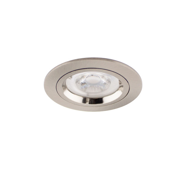 Fixed GU10 Downlight in Satin Nickel (Lamp Not Included)