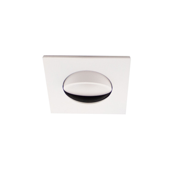 Small Square Tiltable LED Downlight 6W Dimmable 4000K IP44 & Fire Rated in Matt White