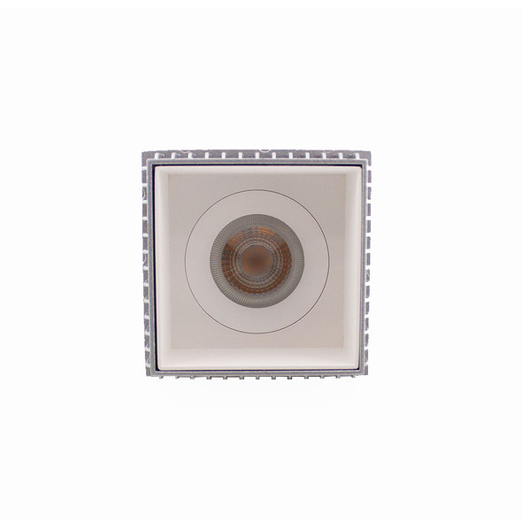 Lior Fixed Square Trimless Recessed Downlight in Matt White GU10 50w