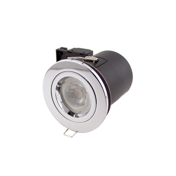 GU10  Fire Rated IP65 Downlight in Polished Chrome