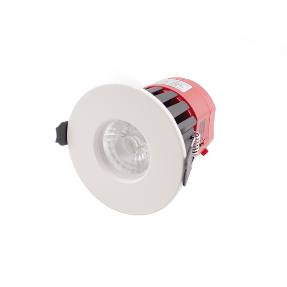 Switchable Temperature Colour 7W LED Downlight Dimmable IP65 & Fire Rated in Matt White 3000K 4000K 6000K