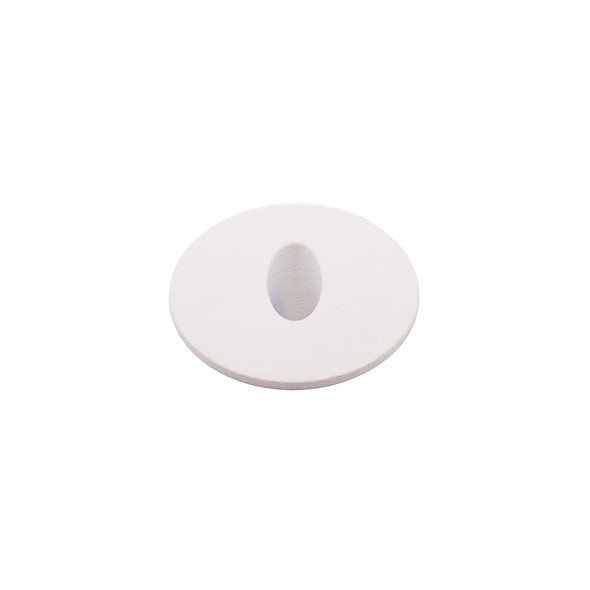 Dimmable 3w Small Round Recessed Oval Aperture LED Wall Light in Matt White IP44 3000K