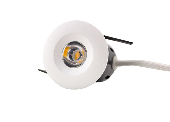 Mini 4W Fixed Dimmable LED Downlight in Matt White 3000K Warm White IP44 + Fire Rated