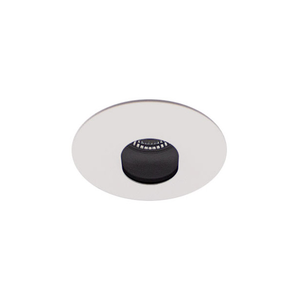 Adjustable 10W IP20 Dimmable Baffle Oval LED Downlight in Matt White