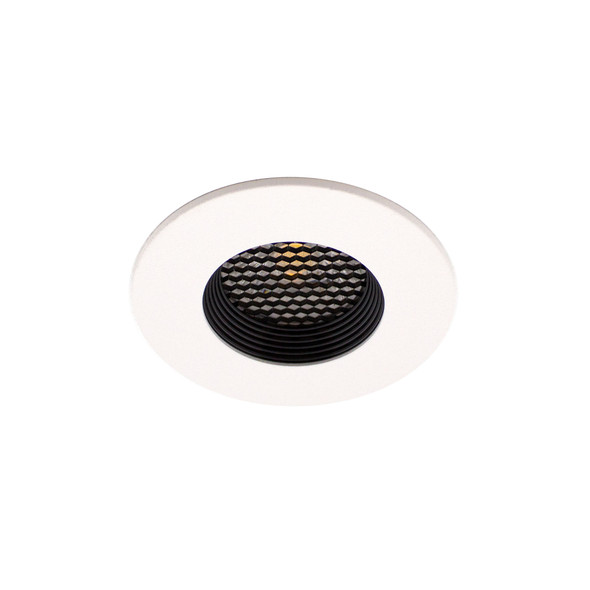 8W Anti-Glare Honeycomb Dimmable LED Downlight IP65 & Fire Rated in Matt White 3000K