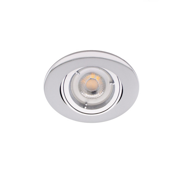 Adjustable Fire Rated GU10 Downlight IP20 - up to 50W / 90 min in Polished Chrome