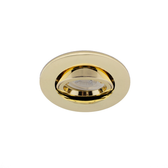 Adjustable Fire Rated GU10 Downlight IP20 - up to 50W / 90 min in Polished Brass