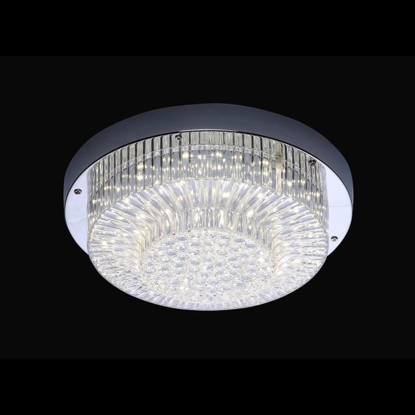 Naida Round LED Flush Light in Chrome