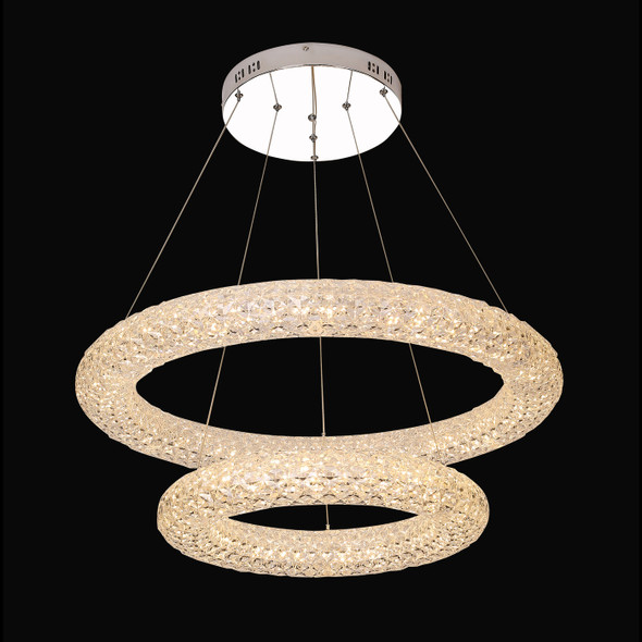 Nur Double Ring Shaped LED Light in Clear Finish