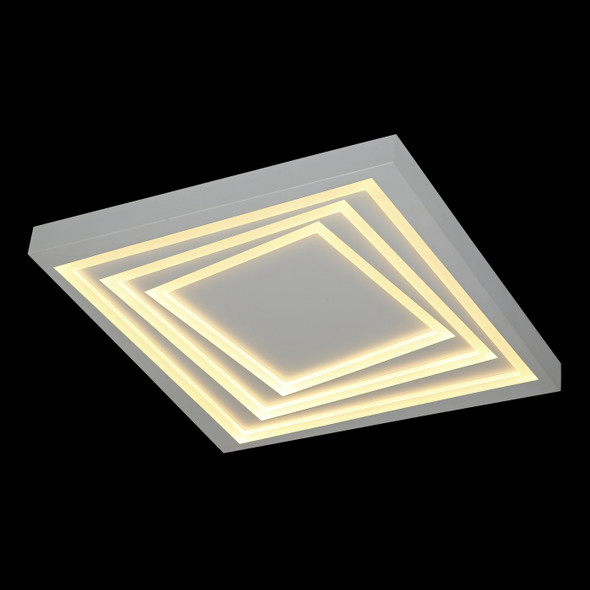 Contemporary Square LED Flush Light in White Finish