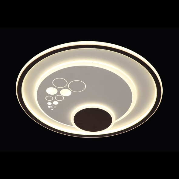 Eyla Round LED Flush Light in White Finish/ CCT Changeable Temperature with Remote